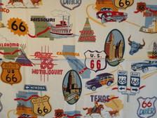 Route 66 Icons Cream Bandana