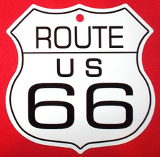 Small Metal Route 66 Shield