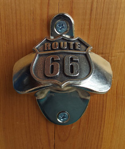 Route 66 Wall Mounted Bottle Opener Made in the USA