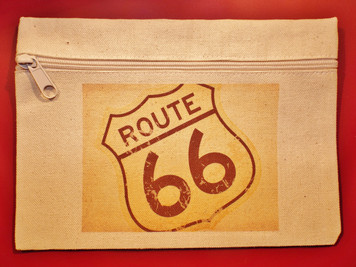 Route 66 Canvas Cosmetic Bag Made in the USA