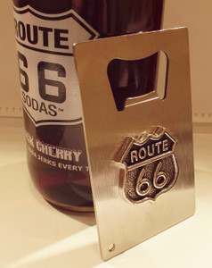 Route 66 Hand Held Bottle Opener