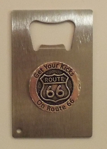 Get Your Kicks on Route 66 Bottle Opener