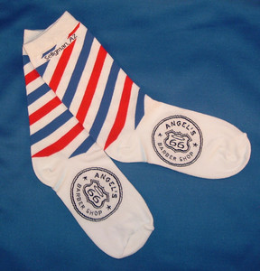 Angel's Barber Shop Socks Made in the USA