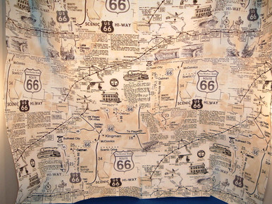 Route 66 Vintage Map Bandana Made in the USA