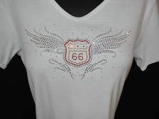 """Bling Wings of """"Flying"""" Route 66 Shirt"""