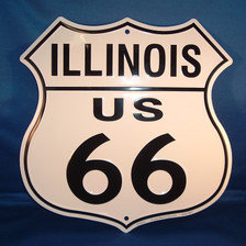 8 state Route 66 shield set: Illinois