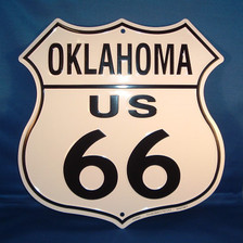 8 state Route 66 shield set: Oklahoma