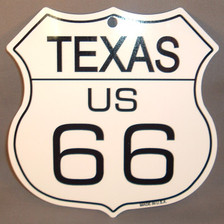 8 State Shield Set - Texas US 66