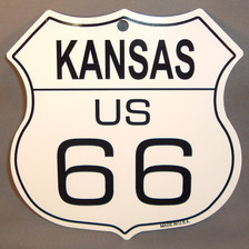 8 State Shield Set - Kansas US 66