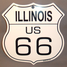 8 State Shield Set - Illinois US 66
