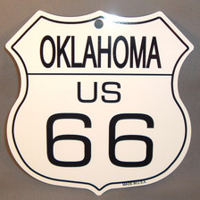 8 State Shield Set - Oklahoma US 66