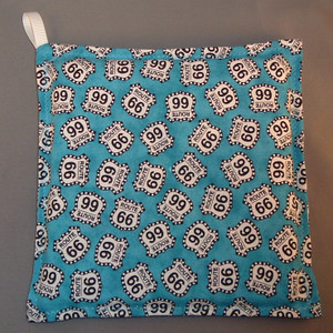 Blue Route 66 Hot Pad
