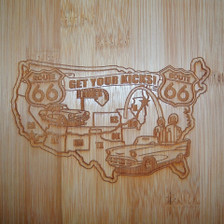Route 66 Cutting Board- close up