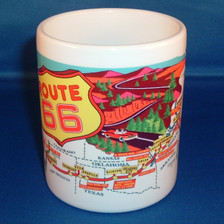 Route 66 Coffee Mug made in the USA FRONT