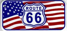 Mini Route 66 American Flag License Plate