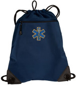 EMT Embroidered Cinch Bag