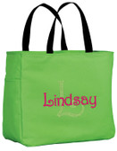 Personalized Tote Bag with Initial