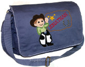 Personalized Applique Cowboy Diaper Bag Font used for name shown on diaper bag is WESTERN BAR