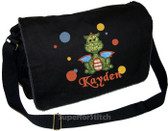 Personalized Applique Dragon Diaper Bag Font used for name shown on diaper bag is BASKERVILLE