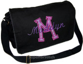Personalized Applique Letter Diaper Bag Font used for name shown on diaper bag is SCRIPT1