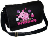 Personalized Applique Lil Piggy Diaper Bag Font used for name shown on diaper bag is ELEPHANT