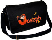 Personalized Applique Monkey Letter Diaper Bag Font used for name shown on diaper bag is COMICA