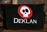 Personalized Applique Skull Patch Diaper Bag