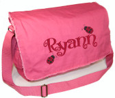 Personalized LADYBUGS Diaper Bag Font shown on diaper bag is BOING