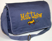 Personalized Car Diaper Bag Font shown on bag is BOYZ