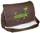 Personalized SMALL PLANE Diaper Bag Font shown on bag is BOYZ