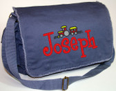 Personalized SMALL TRAIN Diaper Bag Font shown on bag is BOYZ