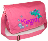 Personalized DOLPHIN Diaper Bag Font shown on bag is BOING