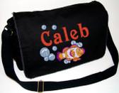 Personalized Clown Fish Diaper Bag Font shown on diaper bag is INSCRIPTION