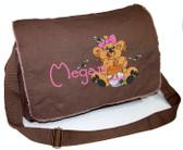 Personalized HONEY BEAR Diaper Bag Font shown on diaper bag is JINGLE