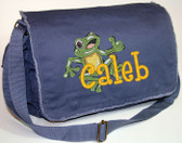Personalized LARGE FROG Diaper Bag Font shown on diaper bag is BOYZ