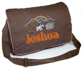 Personalized TWO BY TWO Diaper Bag Font shown on diaper bag is ELEPHANT