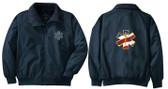 EMT Embroidered Jacket Front & Back