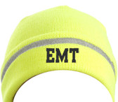Enhanced Visibility Beanie with Reflective Safety Stripe with Your Choice of Lettering