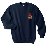 Firefighter Embroidered Crewneck Sweatshirt