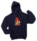 Firefighter Embroidered  Hooded Sweatshirt