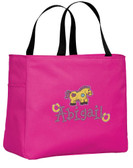 Kid's Patch Horse Essential Tote Bag Personalized  - Embroidered
