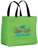 Kid's Dinosaurs Essential Tote Bag Personalized  - Embroidered