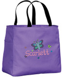 Kid's Butterfly Essential Tote Bag Personalized  - Embroidered