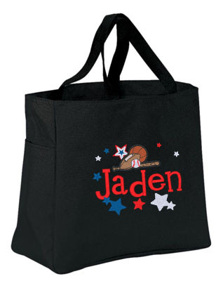 Personalized kids all star sports tote bag kids all star sports essential tote bag personalized embroidered publicscrutiny Choice Image