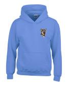 German Shepherd Hooded Sweatshirt Personalized  - Embroidered Left Chest Fleece Hoodie