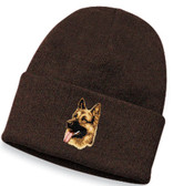 German Shepherd Knit Cap Personalized  - Embroidered