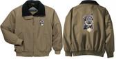German Shepherd Embroidered Jacket Front & Back