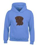 Chocolate Labrador Hooded Sweatshirt