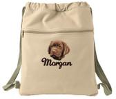 Chocolate Labrador Retriever Cinch Bag