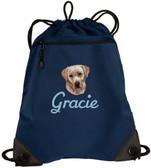 Yellow Labrador Retriever Cinch Bag
